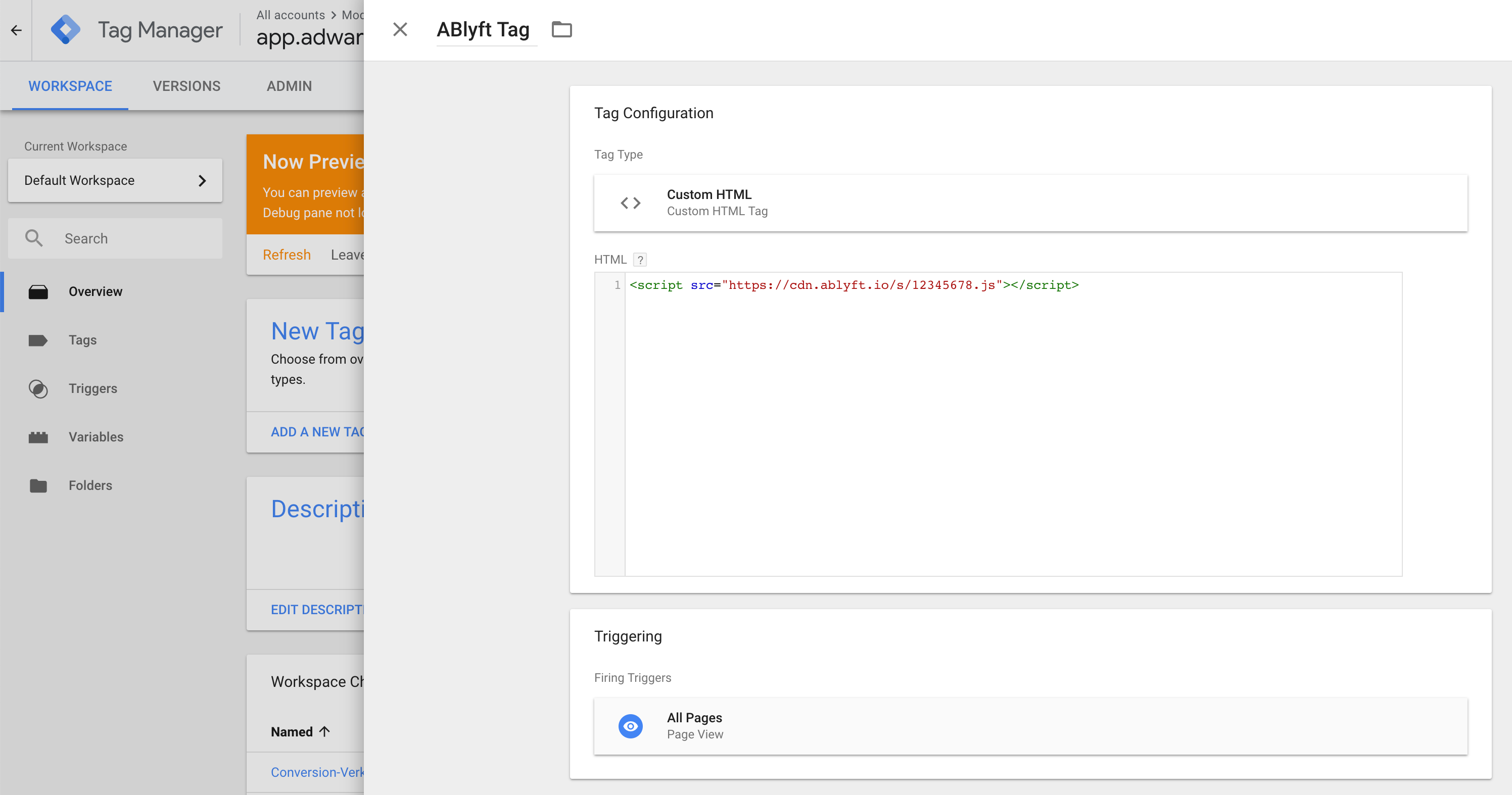 ablyft-project-snippet-implementation-google-tag-manager